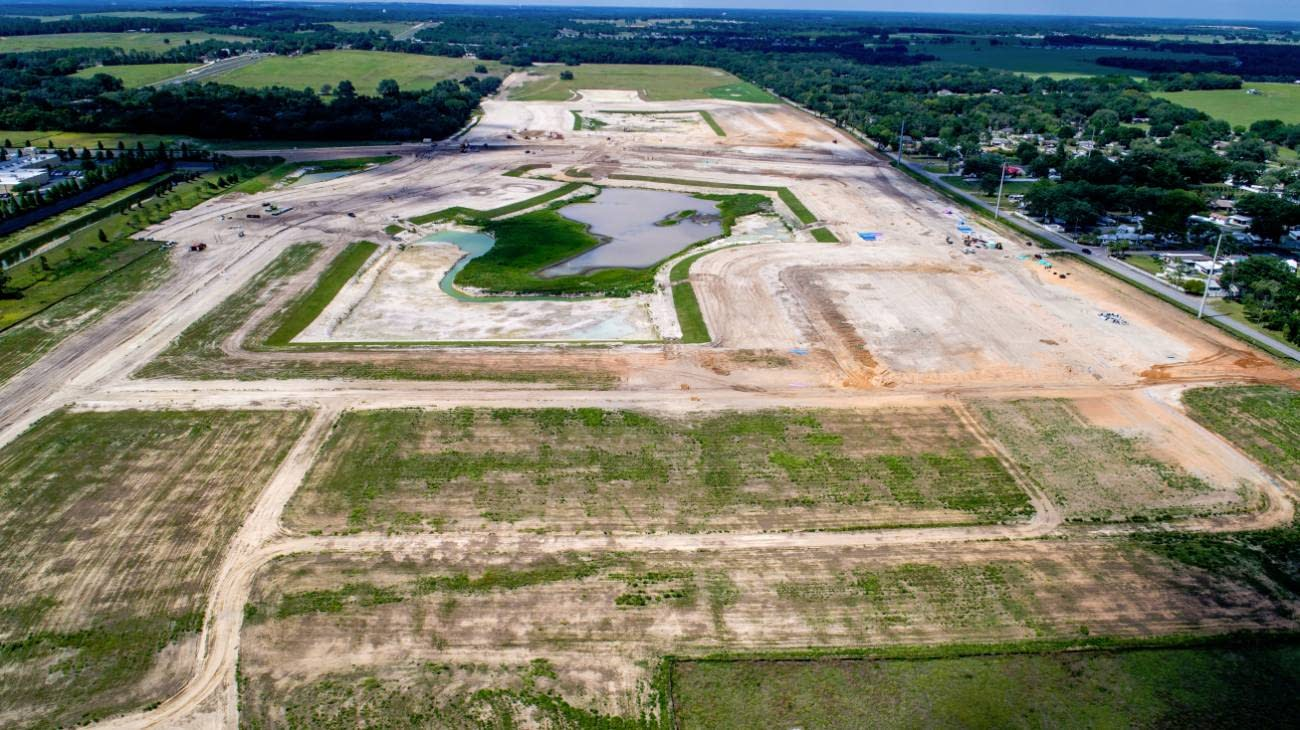 Zephyr Lakes lot in development