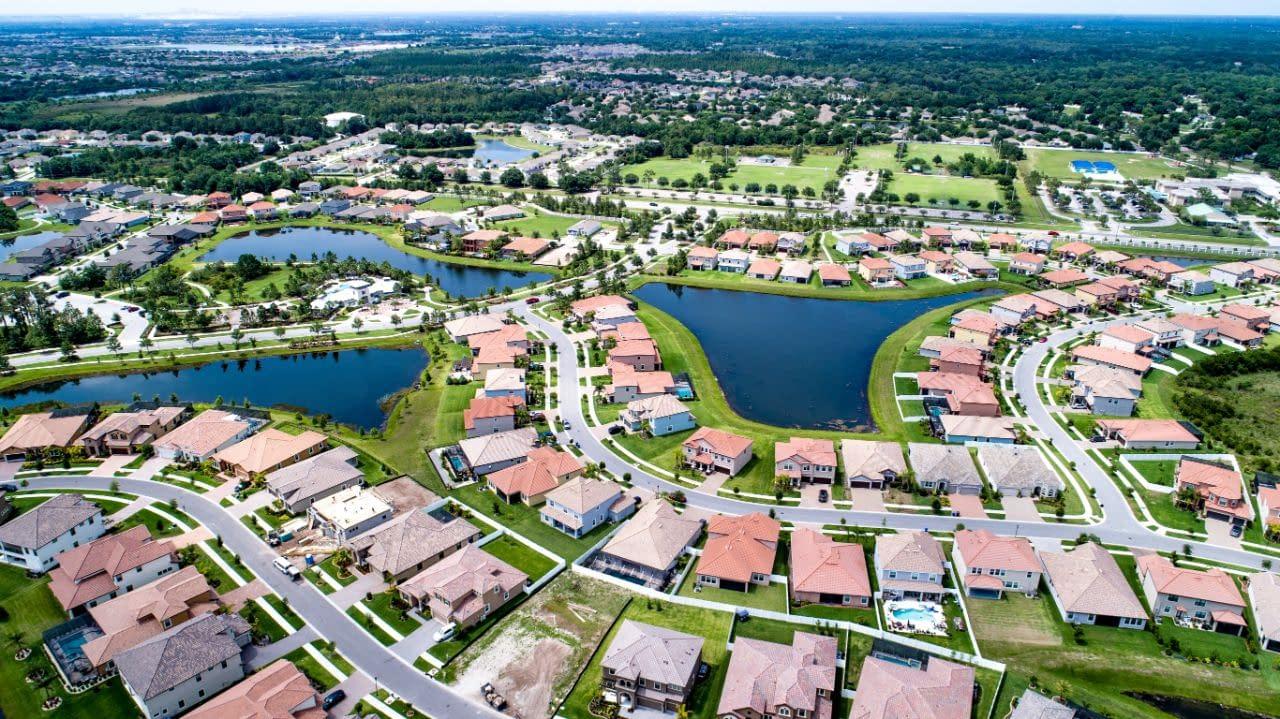 a Waterleaf housing overhead of neighborhood layout