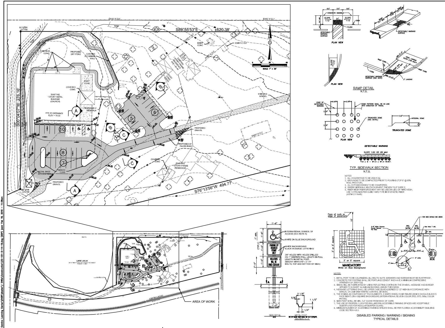 Iglesia Hispana El Camino site plan