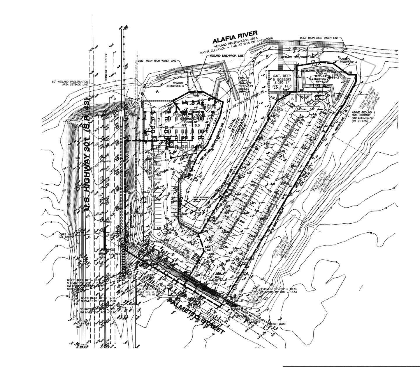 Tiki Docks detailed layout plan