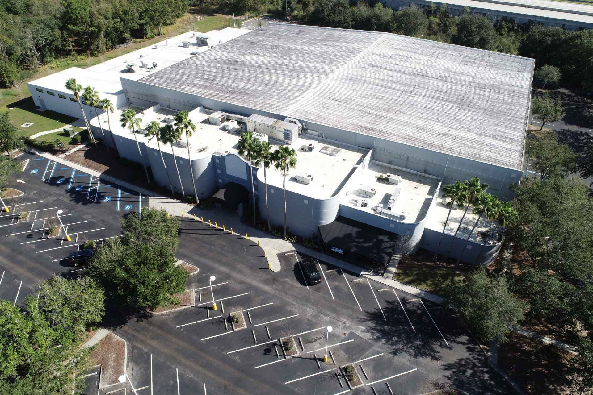 Ice Sports Forum arena photographed from above