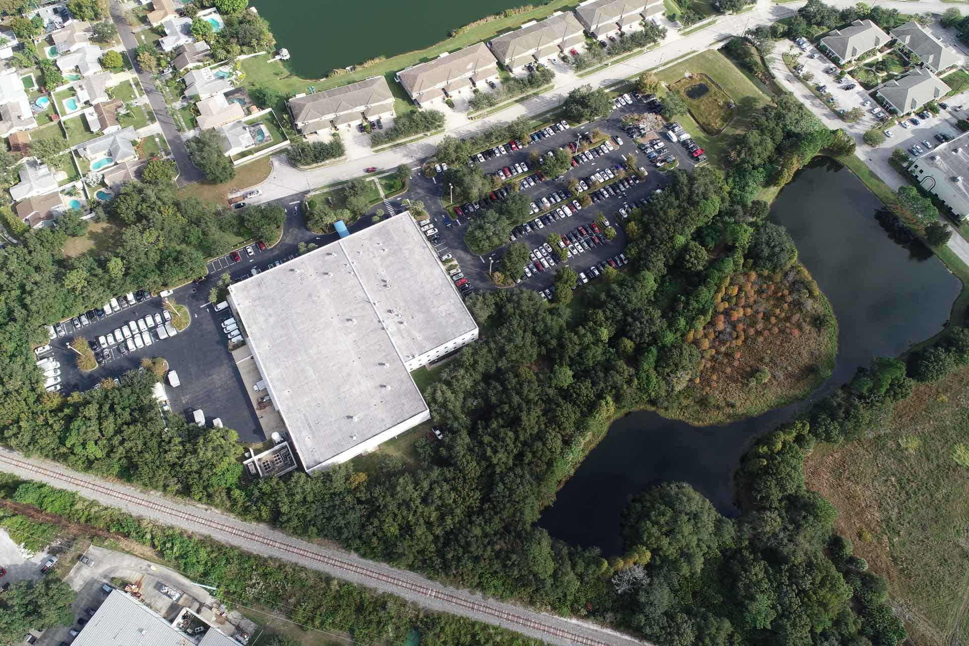 BayCare parking lots and overhead view