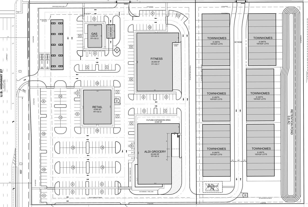 Citrus Ridge retail space and town homes